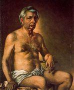 Self Portrait Nude  Giorgio de Chirico  WikiPaintings org