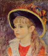 Young Girl in a Blue Hat  PierreAuguste Renoir  WikiPaintings.org