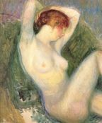 nude in green chair william james glackens wikipaintings org