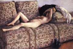 Nude on a Couch  Gustave Caillebotte  WikiPaintings org