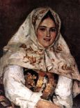 Siberian Beauty  Portrait of E  A  Rachkovsky   Vasily Surikov