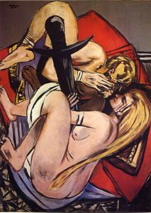 Brother and sister - Max Beckmann - WikiPaintings org