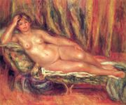 Nude on a Couch  PierreAuguste Renoir  WikiPaintings org