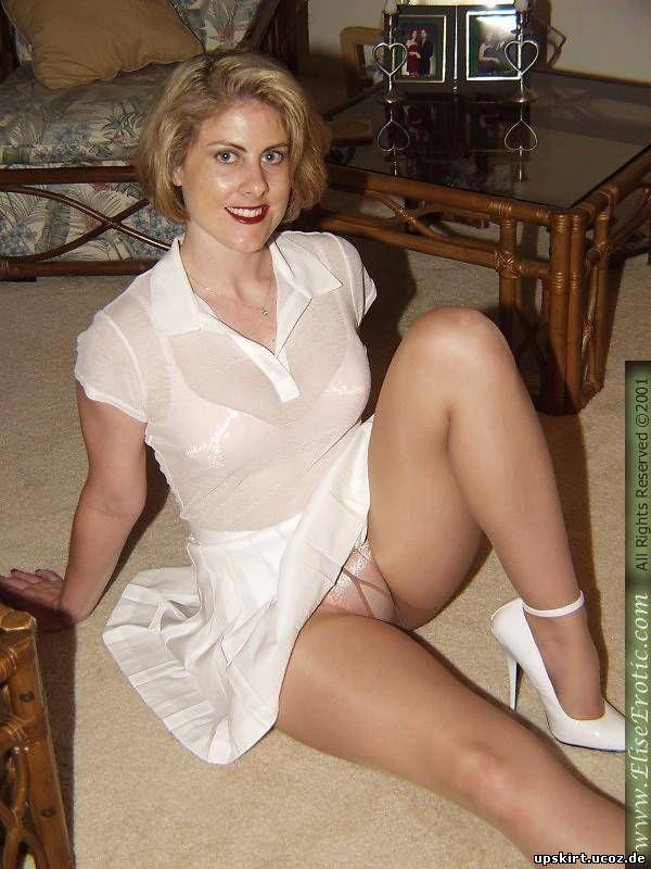 White Panties Under Pantyhose