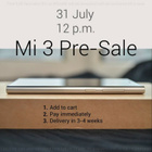 No more mad rush. Pre-order the Xiaomi Mi 3 at 12pm tomorrow