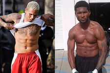 Check out some more pictures of Chris Brown and Usher shirtless (yeah