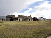 Officers Quarters at Fort Laramie, kitchens in back