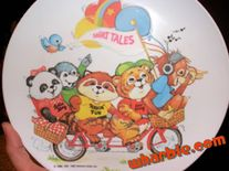 shirt tales plate fun cartoon plate featuring the shirt tales gang