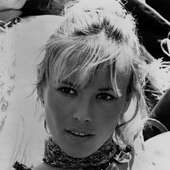 Anita Pallenberg Fringe Blonde Necklace
