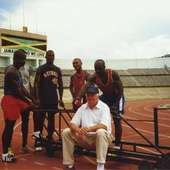 The Jamaican Bobsled Team In The Mid 1990's Training At The National
