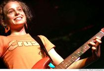 061mc jpg Lead guitarist of Peach Fuzz smiles with pride after