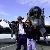 Jack Weaver And His Daughter, Andrea Bradley, And The B-17