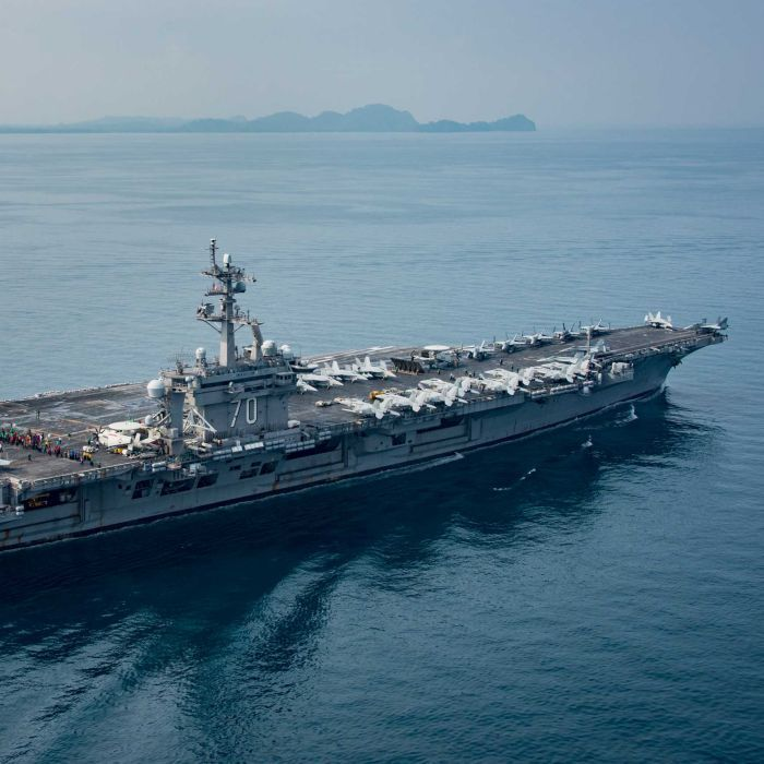 North Korea 'ready to strike' US aircraft carrier Carl Vinson