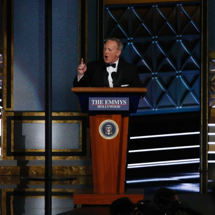 Sean Spicer makes surprise appearance before 'the largest audience to witness an Emmys'