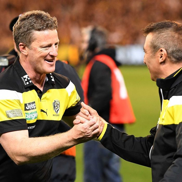 Tigers not worried about grand final favourites Crows, Hardwick says