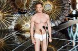 Neil Patrick Harris showed off a bruise he got during Hedwig and the