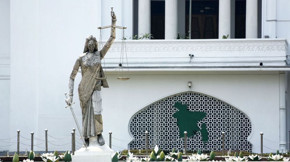 Bangladesh: Lady Justice statue removed after protests