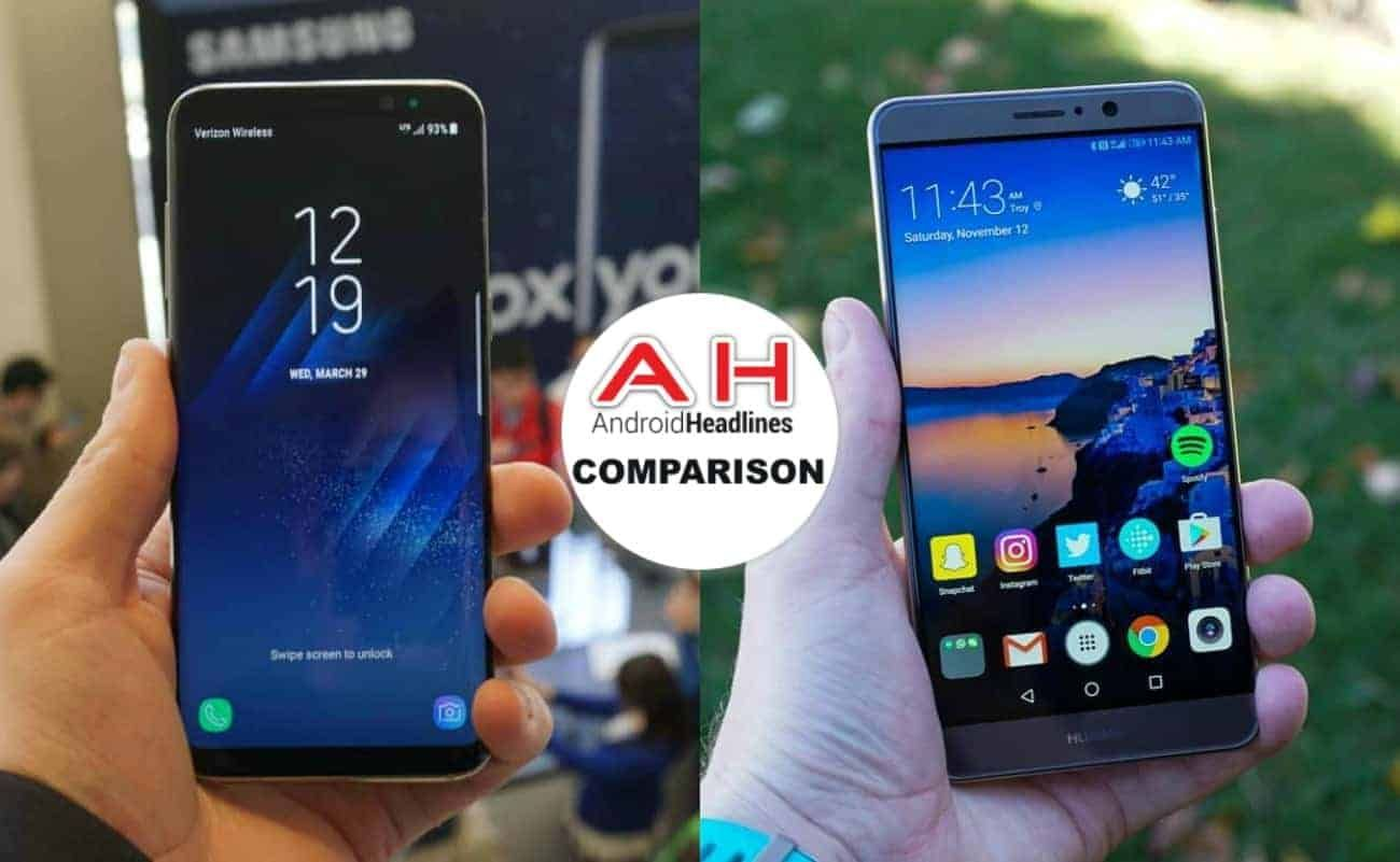 Phone Comparisons: Samsung Galaxy S8 vs Huawei Mate 9