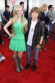 Jake Short and Sierra McCormick at the World Premiere of REAL STEEL