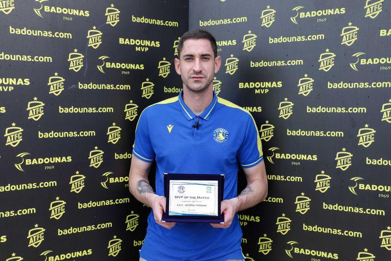 BADOUNAS MVP Of The Match: Η βράβευση του Νίκου Παπαδόπουλου (video & photos)