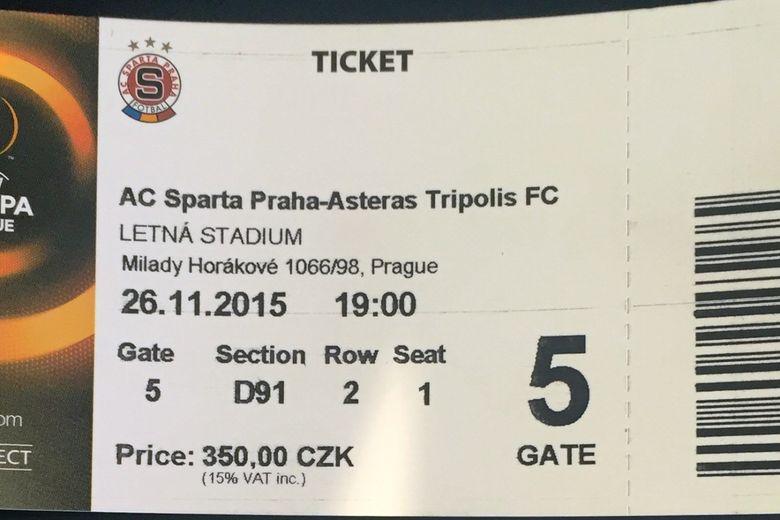 #tickets: AC Sparta Praha-ΑΣΤΕΡΑΣ