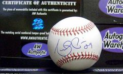 Angel Pagan autographed Baseball
