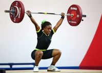 class she beat weightlifters from papa new guinea dika toua and india