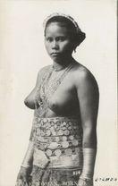 Details about Malaysia Borneo Sarawak NUDE DAYAK Native Girl 30s RPPC