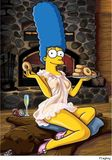 Here's Marge Simpson  nude!