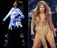 But the most striking? JLo did her best Britney impression in a nude