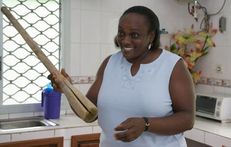 Caroline Nkeih used this pestle to iron her 10yearold daughter's
