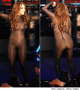 Lo Shows Curves In New Year's Nude Bodysuit | PopEater com