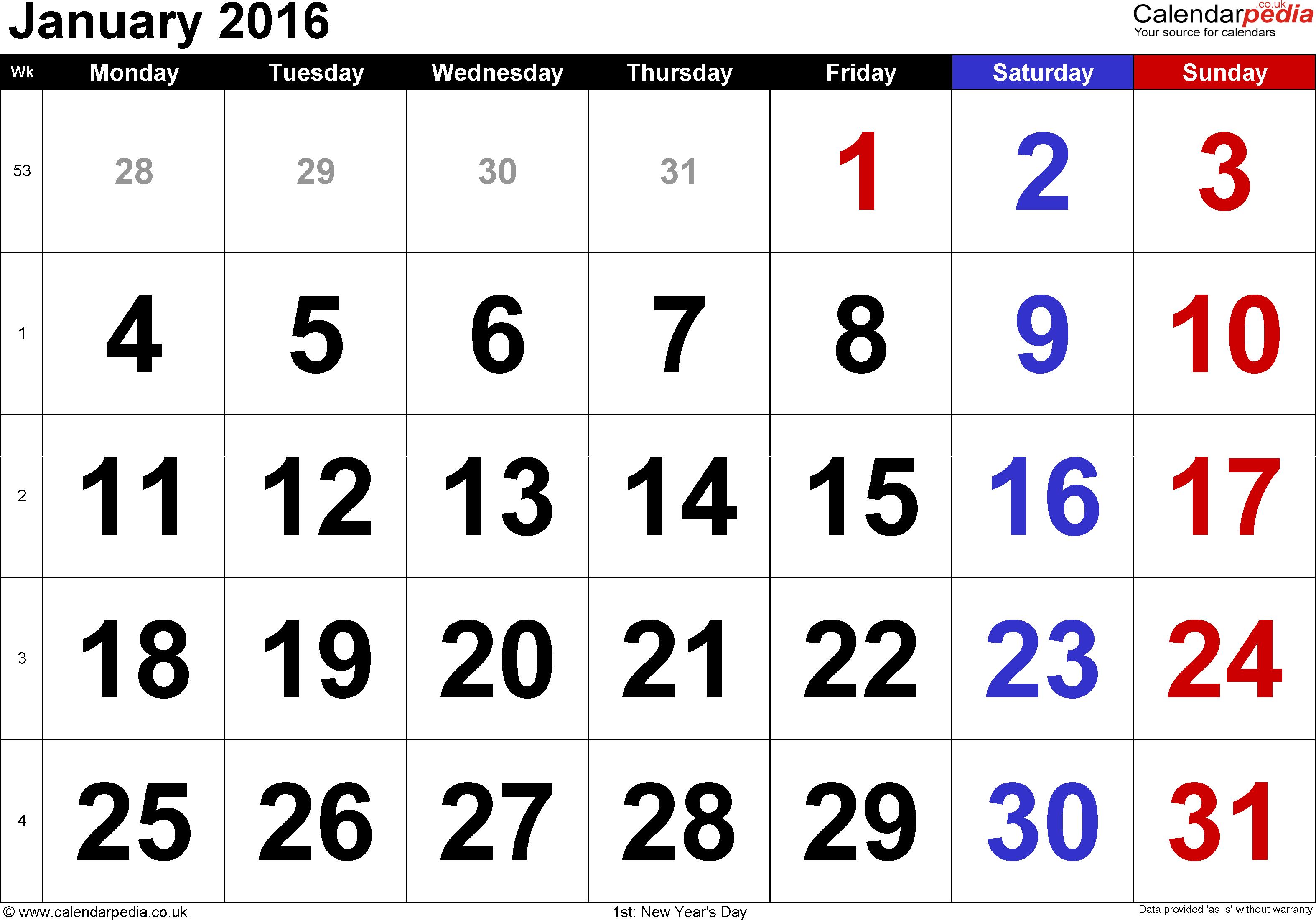 January 1 2015