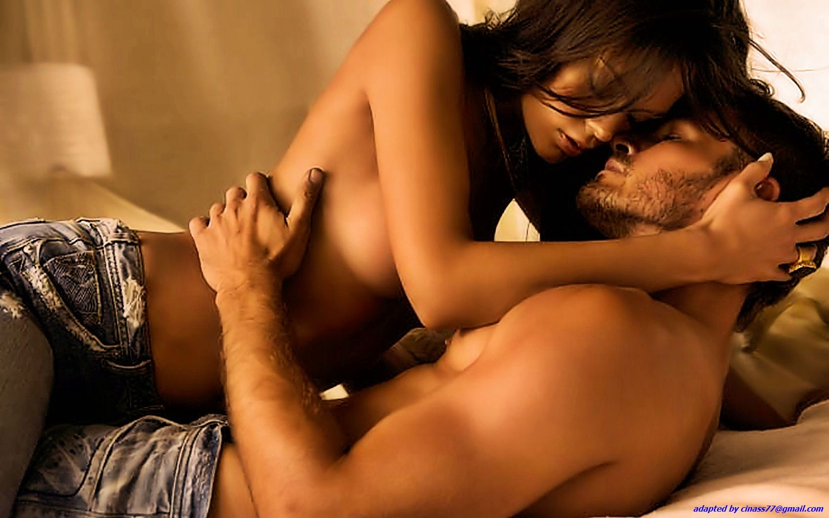 Wet Horny Ebony Couple Going At It