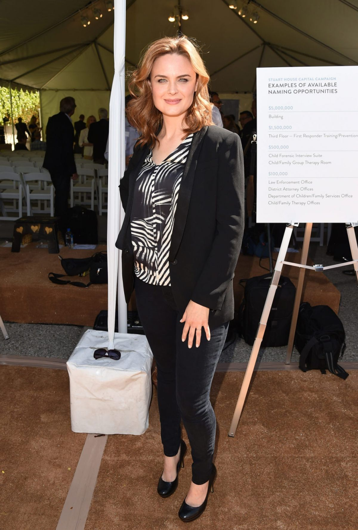 Emily Deschanel The Rape Foundation Event In Santa Monica