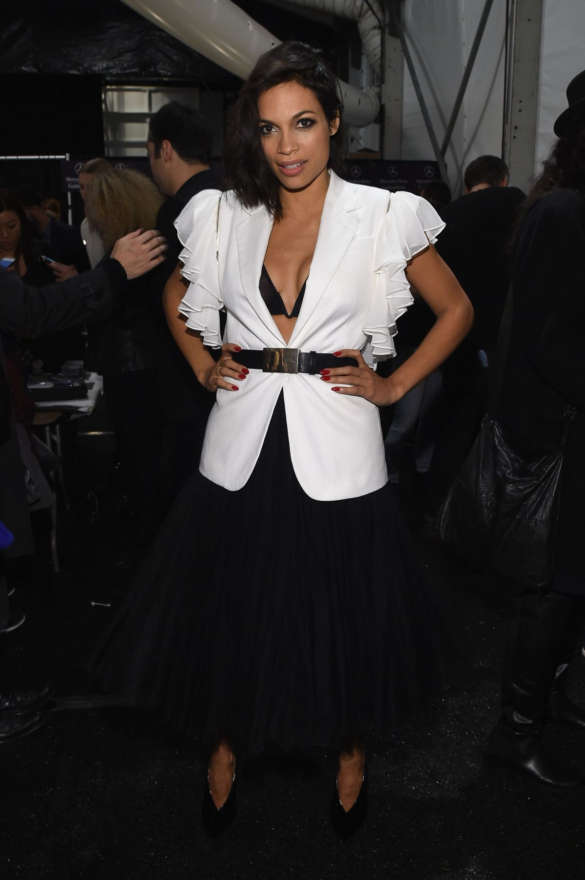 Rosario Dawson At Naomi Campbell S Fashion For Relif Charity Fashion Show In New York
