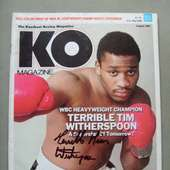 Tim Witherspoon Former WBC And WBA Heavyweight World Champion SIGNED