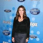 Kat Foster American Idol Top 12 Party Arrivals Held At Wolfgang Puck