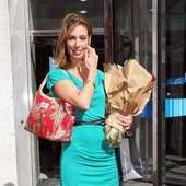 Emma Crosby Celebrities Leaving The London Studios After The Last