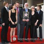 Angus Sutherland And Guest, Roeg Sutherland, Donald Sutherland, Rachel