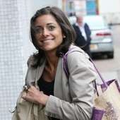 Lucy Verasamy Outside The ITV Studios London, England - 26.04.11