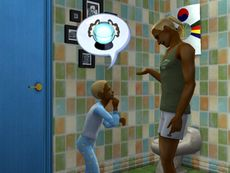 fatherson discussion in the bathroom