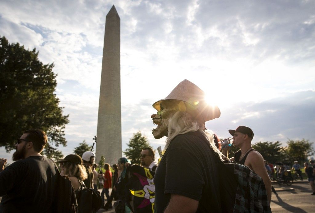 "PHOTOS: Insane Clown Posse Juggalo's rally in Washington to protest ""gang"" classification"