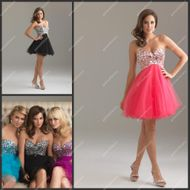 Sexi Young Girls Party Dress 2013 Sweetheart Neckline Diamond Beaded