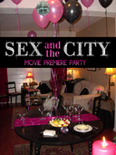 friend Samantha and I hosted a Sex and the City Movie Premiere Party