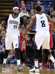 DeMarcus Cousins (15) and Rudy Gay (8) combined for 47 points for the