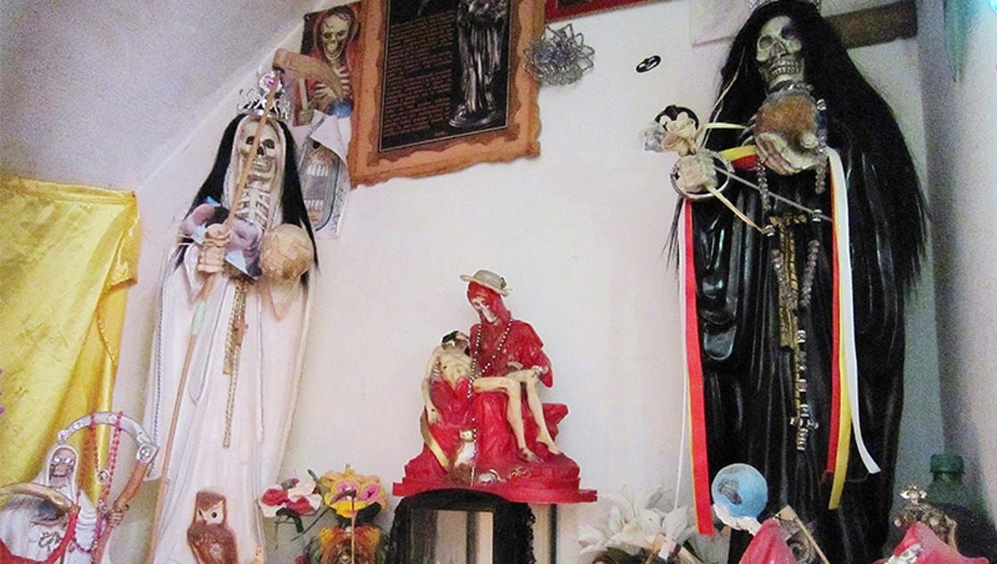 How a skeleton folk saint of death took off with Mexican transgender women