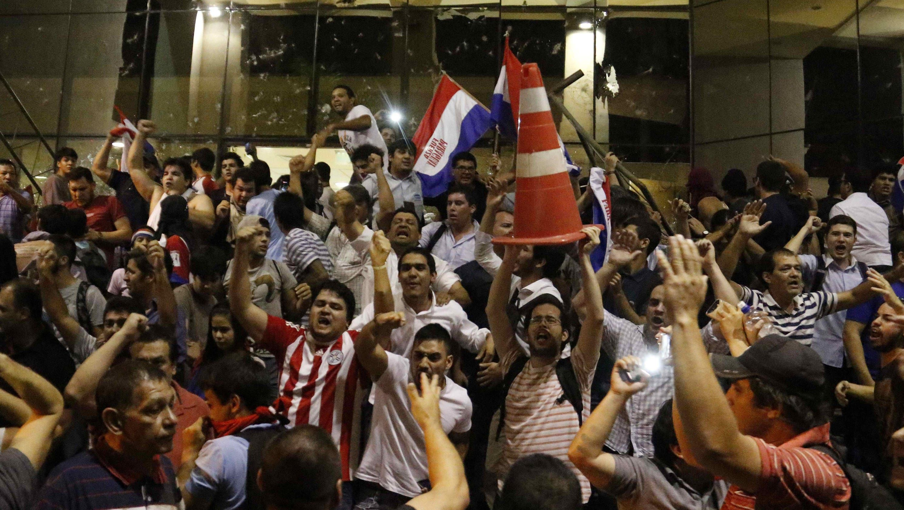 Paraguay rioters storm Congress after Senate amends constitution
