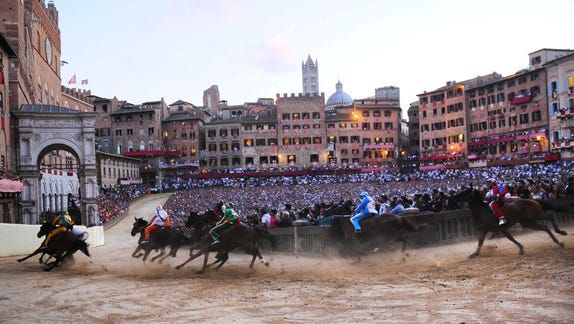The ancient tradition of the Palio di Siena horse races