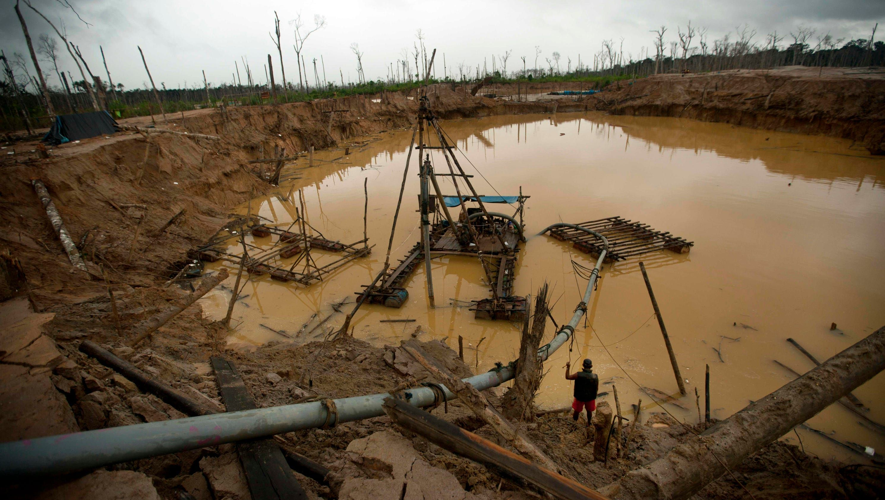 Peru's illegal gold mines are devastating the Amazon rain forest